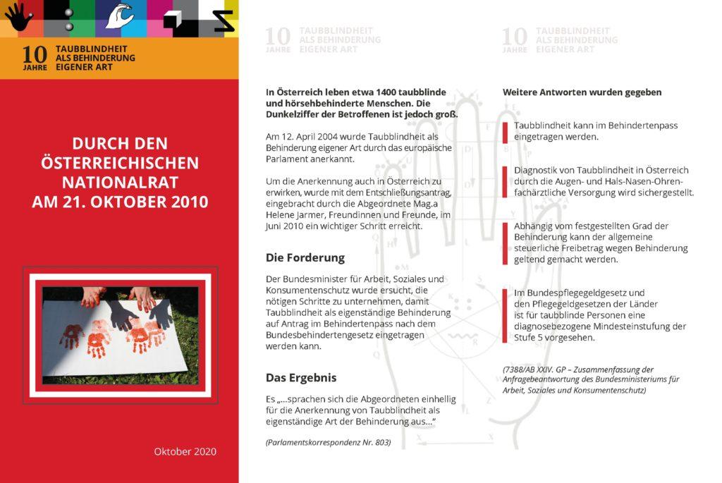 Durch den österreichischen Nationalrat am 21. Oktober 2010